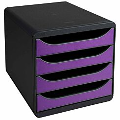 Exacompta BIG-BOX Iderama 4 Drawer Unit Purple