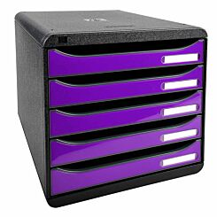 Exacompta BIG-BOX PLUS Iderama 5 Drawer Unit Purple