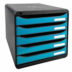 Exacompta BIG-BOX PLUS Iderama 5 Drawer Unit Turquoise