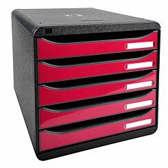 Exacompta BIG-BOX PLUS Iderama 5 Drawer Unit Raspberry