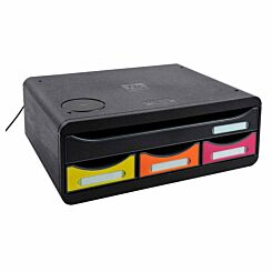 Exacompta Toolbox Mini 4 Drawer Set with Charging Pad