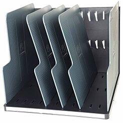 Exacompta Modulotop Vertical Sorter with 5 Dividers Grey