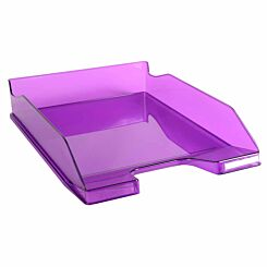 Exacompta Office Letter Tray Midi Combo Pack of 6 Translucent Gloss Purple