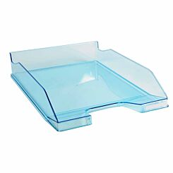 Exacompta Office Letter Tray Midi Combo Pack of 6 Translucent Gloss turquoise