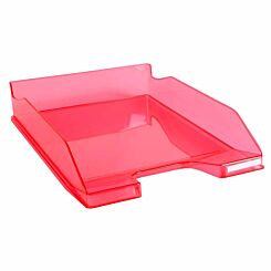 Exacompta Office Letter Tray Midi Combo Pack of 6 Translucent Gloss raspberry