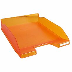 Exacompta Office Letter Tray Midi Combo Pack of 6 Translucent Matte Orange