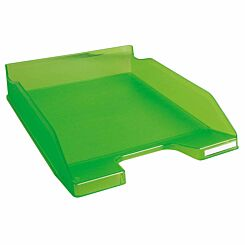 Exacompta Office Letter Tray Midi Combo Pack of 6 Translucent Matte apple green