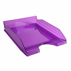 Exacompta Linicolor Eco Letter Tray Pack of 10 Purple