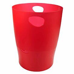 Exacompta Ecobin Waste Paper Bin Translucent Pack of 8 Red