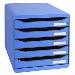 Exacompta BIG-BOX PLUS Iderama 5 Drawer Unit Ice Blue