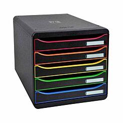 Exacompta BIG-BOX PLUS Iderama 5 Drawer Unit Multicoloured