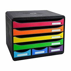 Exacompta Store Box Mini 7 Drawer Set Multi Colour