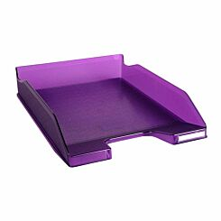 Exacompta Office Letter Tray Midi Combo Pack of 6 Translucent Purple