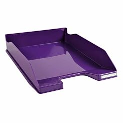 Exacompta Office Letter Tray Midi Combo Pack of 6 Gloss Purple