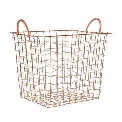 Vertex Rectangular Wire Basket with Handles 30x38x36cm