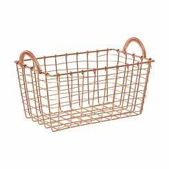 Vertex Rectangular Wire Basket with Handles 25x15x15cm