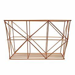 Vertex Wire Basket Copper Plated