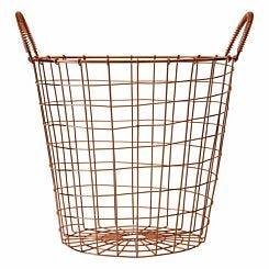 Vertex Round Wire Basket Copper Plated
