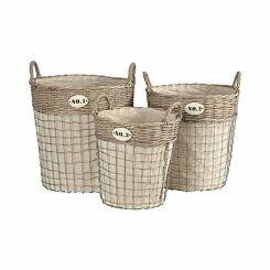 Lida Laundry Baskets Set of 3