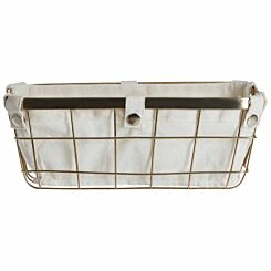 Premier Housewares Gold Finished Iron Wire Storage Basket 4.5 litre