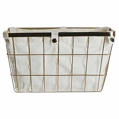 Premier Housewares Gold Finished Iron Wire Storage Basket 12.5 litre