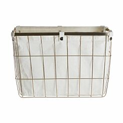 Premier Housewares Gold Finished Iron Wire Storage Basket 30 litre