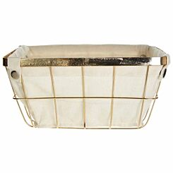 Premier Housewares Gold Finished Iron Wire Storage Basket