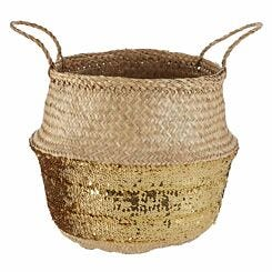 Seagrass Basket Natural Top Small