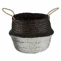 Seagrass Basket Black Medium