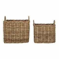 Argento Storage Baskets Grey Set of 2