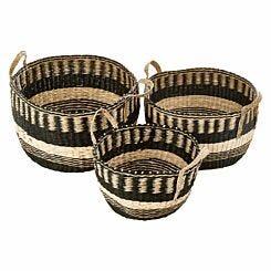 Premier Housewares Bora Storage Baskets Set Of 3