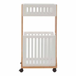 Nostra Bamboo Storage Trolley 2 Tier