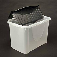 Tontarelli Flip Lid Plastic Storage Box 42 Litres Pack of 2