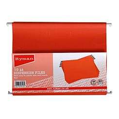 Ryman Suspension Files A4 Pack of 10 Red