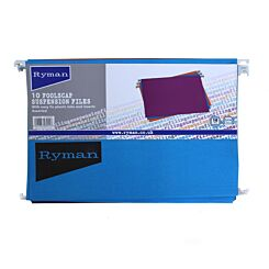 Ryman Suspension Files Foolscap Pack of 10 Assorted