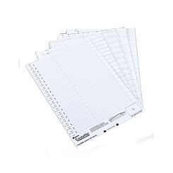 Rexel Crystalfile Crystal Printable Tab Insert Pack of 50