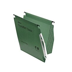 Rexel Crystalfile Classic 275 Lateral Suspension File 15mm Pack of 50 Green