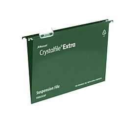 Rexel Crystalfile Extra A4 Suspension File 15mm Pack of 25