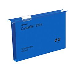 Rexel Crystalfile Extra Foolscap Suspension File 30mm Pack of 25 Blue