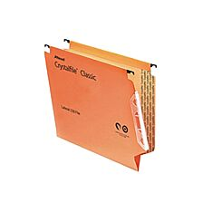 Rexel Crystalfile Classic 330 Lateral Suspension File 15mm Pack of 50 Orange
