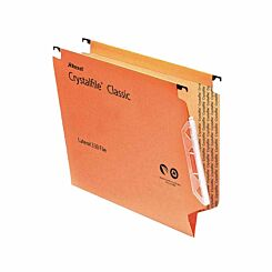 Rexel Crystalfile Classic 330 Lateral Suspension File 50mm Pack of 25 Orange