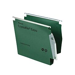 Rexel Crystalfile Extra 275 Lateral Suspension File 30mm Pack of 25 Green