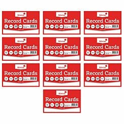 Silvine Record Cards 8x5 Plain Pack of 1000