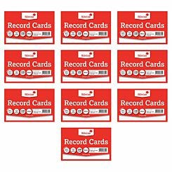 Silvine Record Cards 6x4 Ruled Pack of 1000