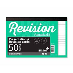 Silvine Revision and Presentation Notecards Ruled Pack of 50