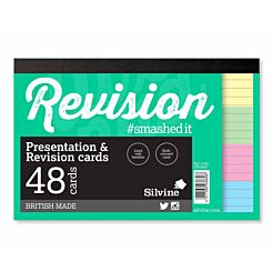 Revision and Presentation Cards Ruled Pack of 48