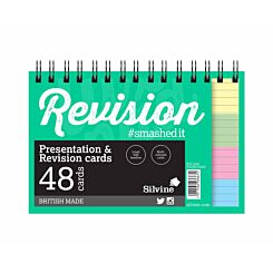 Silvine Wirebound Revision Cards Assorted 6x4 inch
