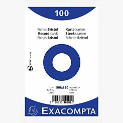 Exacompta Record Cards 10x15cm Plain 20 Packs of 100