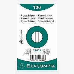 Exacompta Record Cards 7.5x12.5cm Lined 20 Packs of 100