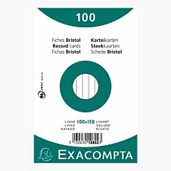 Exacompta Record Cards 10x15cm Lined 20 Packs of 100